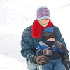 Mom Cassy Martin and son Dalton Martin play in the snow,<br /> <br /> Photographer's Name: Mary King<br /> Photographer's City and State: Elwood, IN