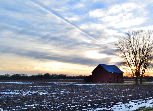 Somewhere between Markleville and Anderson....sunsets are so beautiful!<br /> <br /> Photographer's Name: Colleen Brown<br /> Photographer's City and State: Anderson, IN