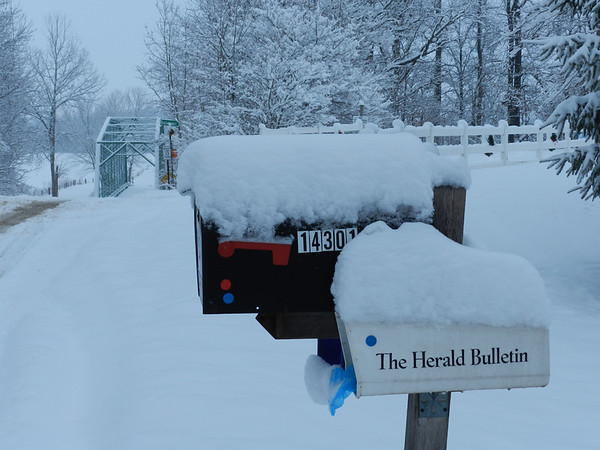 Herald Bulletin rural delivery<br /> <br /> Photographer's Name: Jan Baker<br /> Photographer's City and State: Daleville, Ind.
