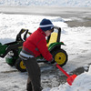 4 year old Peyton Heath working hard to clear the driveway<br /> <br /> Photographer's Name: Sheri Heath<br /> Photographer's City and State: Anderson, IN