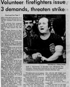 12.9.1986 Volunteer Firefighters Issue Demands, Threaten Strike-1