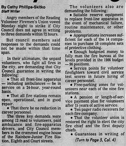 12.9.1986 City Firefighters Issue Ultimatum-1