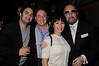 Jonathan Zarin, Steve Steve Boxer, Christine DeSimeone,Bobby Zarin<br /> photo by Rob Rich © 2010 robwayne1@aol.com 516-676-3939