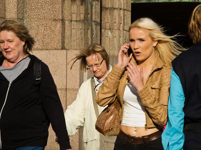 Randon street scene, Helsinki, Finland
