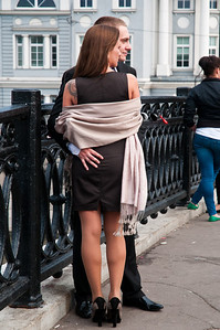 Street scene, Kamenny Bridge, Moscow
