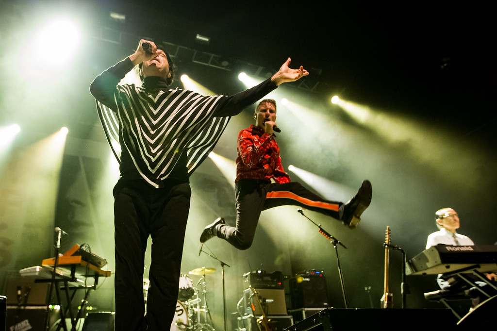 Russel Mael and Alex Kapranos of FFS