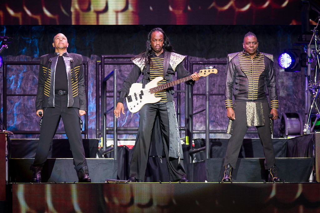 Ralph Johnson, Verdine White and Philip Bailey