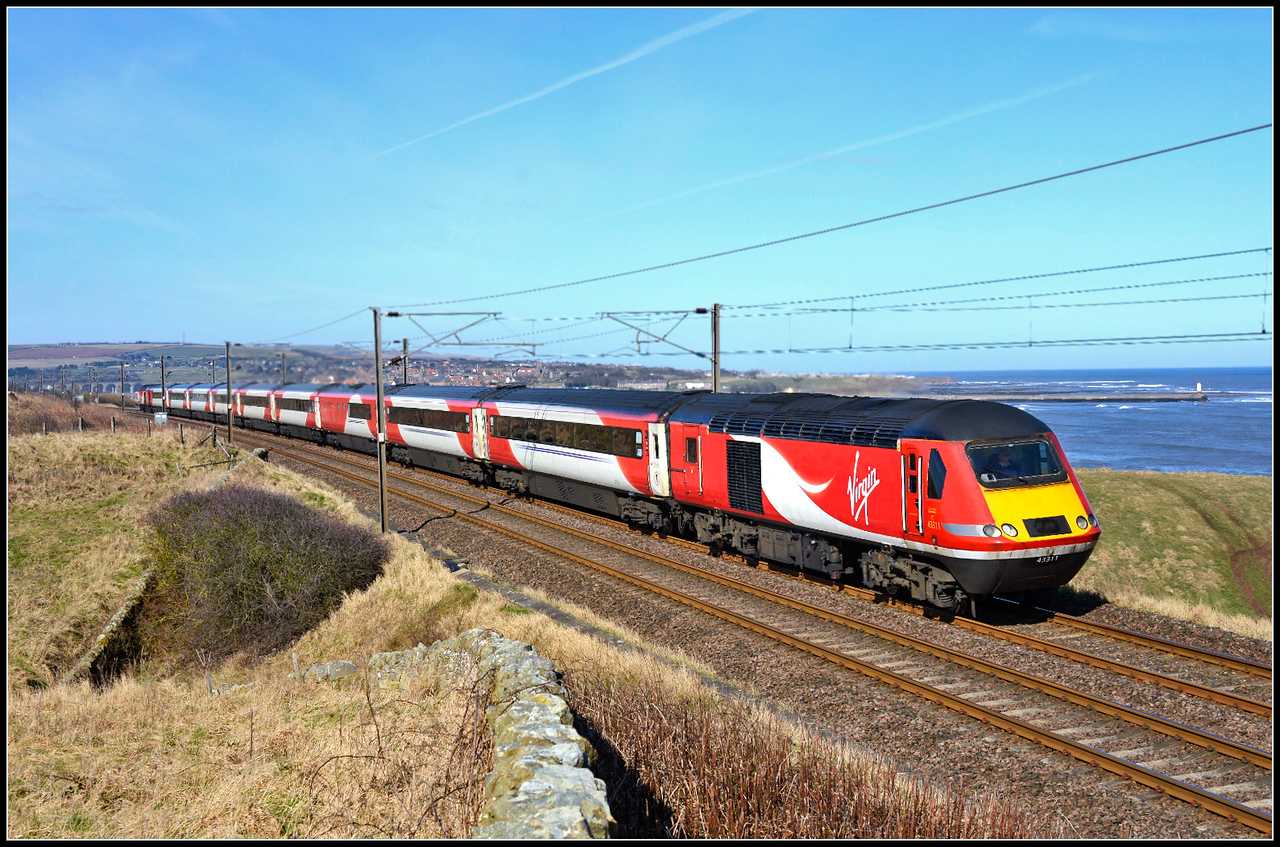 2018 03 20.43311 on the 07.55 Inverness-Kings Cross VTEC service at Spittal.