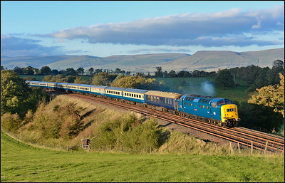 2018 09 29.90009 'Alycidon'on 1Z45 16.28 Carlisle-Willington charter heads for Aisgill after a short stop at Appleby thank goodness for that!As the smallest of breaks appeared helping capture this gorgeous scene at Gallansay.