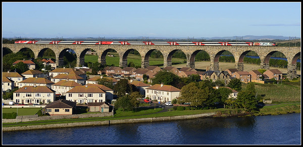 2017 09 12.91111 on the 06.15 Doncaster-Edinburgh VTEC service approaches Berwick on The Royal Border Bridge.