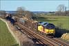 2018 02 09.60096 on the 12.58 Carlisle-Chirk Kronospan southbound timber train at Langwathby.