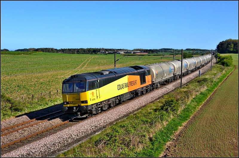2018 05 14.60095 on the return 14.47 Seaham-Oxwellmains empty cement  working at Whinny Hill.
