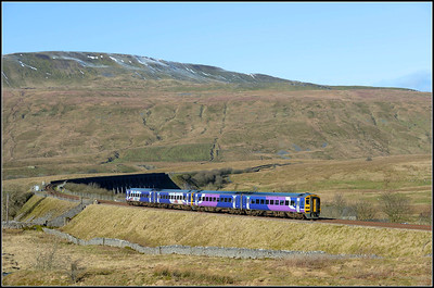 2018 01 27.Unit on the 10.49 Leeds-Carlisle service train at Ribblehead.
