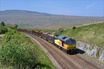 2018 05 23.60002  on the  12.57 6j37 Carlisle-Chirk timber service at Salt Lake Cottages.