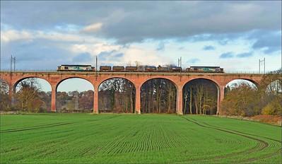 2018 11 12. 37059+37069 on the 05.17 Carlisle-Carlisle RHTT working at Croxdale.