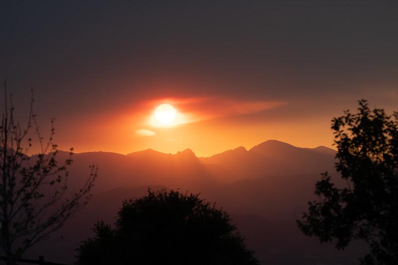 Sunset over Boulder