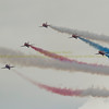 Southport UK - 20/09/2015.  All Rights Reserved. No unpaid usage without prior written consent. Red Arrows display at the Southport Air Show today.