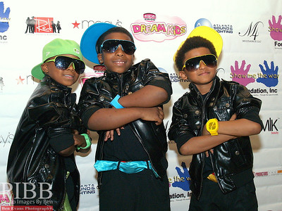 America's Got Talent alum The SH'Boss Boys, featuring (L to R) Little Jeff (age 5), Tobias (age 7), and Young J (age 6),