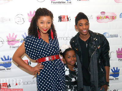 BET's Reed Between The Lines TV Stars (L to R) Zoe Soul,15, Zoe, and Nadji Jeter,14.