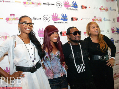 (L) to (R) Cynthia Bailey, Donria, Shawty Low and Tashawnya Menefee, President & Founder of Show Me The Way Foundation.