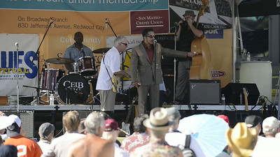 "Aki Kumar Blues Band, with guests John Blues Boyd and Kid Anderson, ""Call the Train Conductor"""