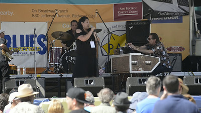 "Good Hands Organ Trio with Danny Caron on guitar, Wayne De La Cruz on Hammond B3, Kent Bryson on Drums and guest  vocalist Marina Crouse. ""You Can Have My Husband (But Please Don't Mess with my Man)"""