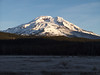 South Sister from the frosty meadow at Sparks Lake
