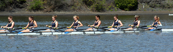 NYSSRA Section II championships, Sunday, May 8,  rowing on the Mohawk River. (STAN HUDY/shudy@saratogian.com)