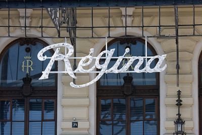 Light reading off the Regina sign, nice reflections are not lost