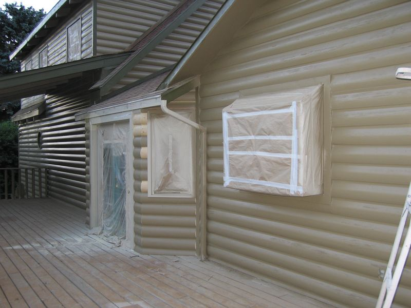 The rotten siding is now replaced