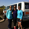 Me, Penny and Ruth in front of the other Van 2 before we started (Ruth's picture)