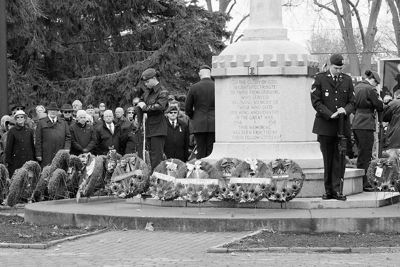 Cobourg Cenotaph on Remeberance Day