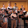 The Kent UU choir, with director Hal Walker on the right.