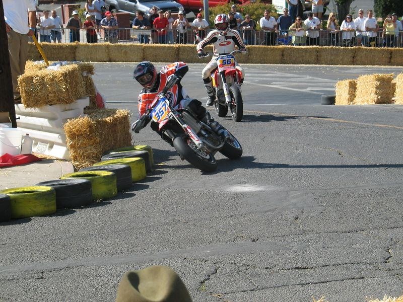 Riders had to lift out the left turn and get into the right turn quickly. Some did wheelies through here trying to get over to the right.