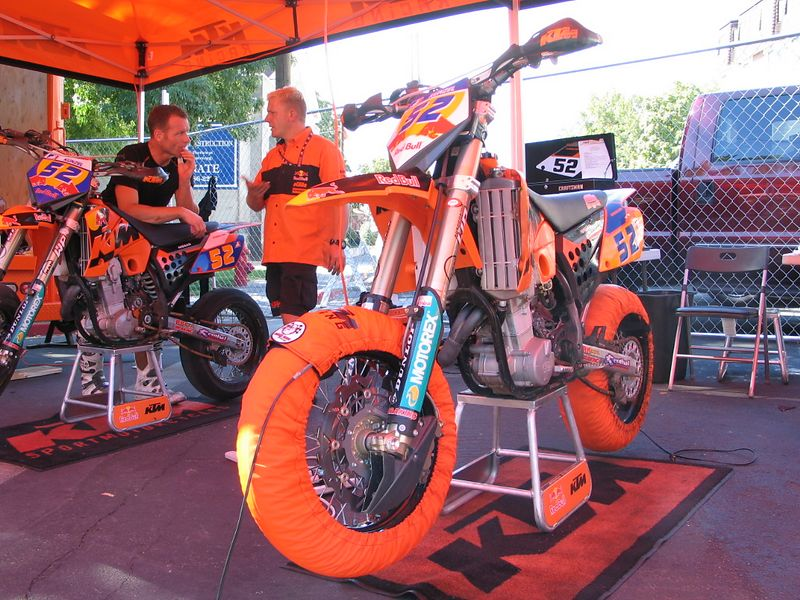 Can you tell this is the KTM pit?