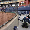We had front row field-level seats for the game, between home plate and the Aces dugout on the third base side, maybe 1/3 of the way from home plate to their dugout.  A food services guy (like a waiter) would come take our orders for food, so we didn't even have to leave our seats. This area also has its own bathrooms just a short walk down a tunnel behind Tamar.<br /> <br /> The lady closest to the netting (in jeans) sung the National Anthem.