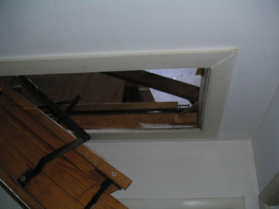 View of attic after they cut out the damaged decking.  That's 'natural' light.