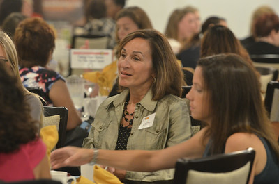 """J.S.Carras/The Saratogian   during Rensselaer County Regional Chamber of Commerce """"Wonder Women Roundtables"""" Thursday, August 14, 2014 at The Century House in Latham, N.Y.."""