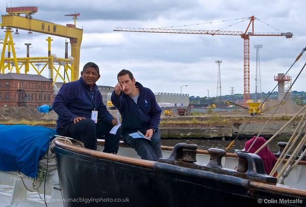 2 Deckhands enjoy a break at The Tall Ships, Belfast 2010