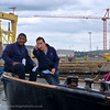 2 Deckhands enjoy a break at The Tall Ships, Belfast 2010