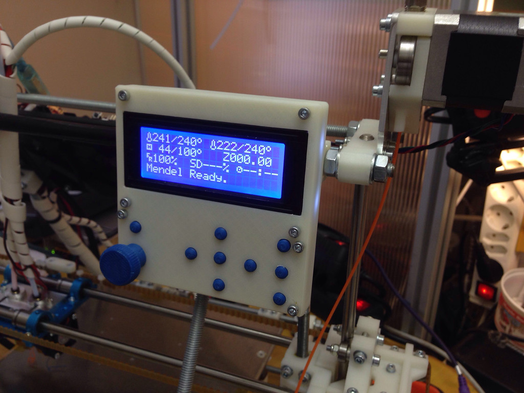 New reprap instrument cluster for autonomous printing.