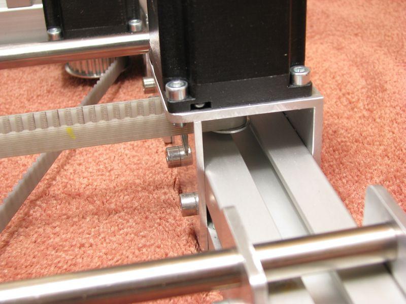 Detail view of my Y motor mount..