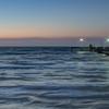 Bob Hall Pier just before sunrise.