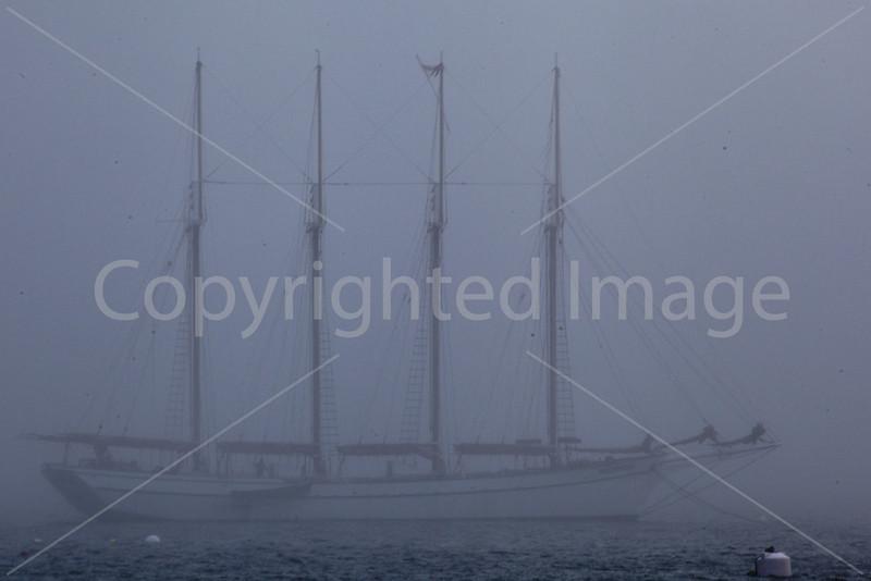 Schooner in the Fog