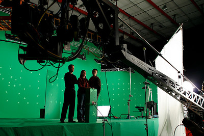 IQ-145 green screen on soundstage at Screen Gems Studio.
