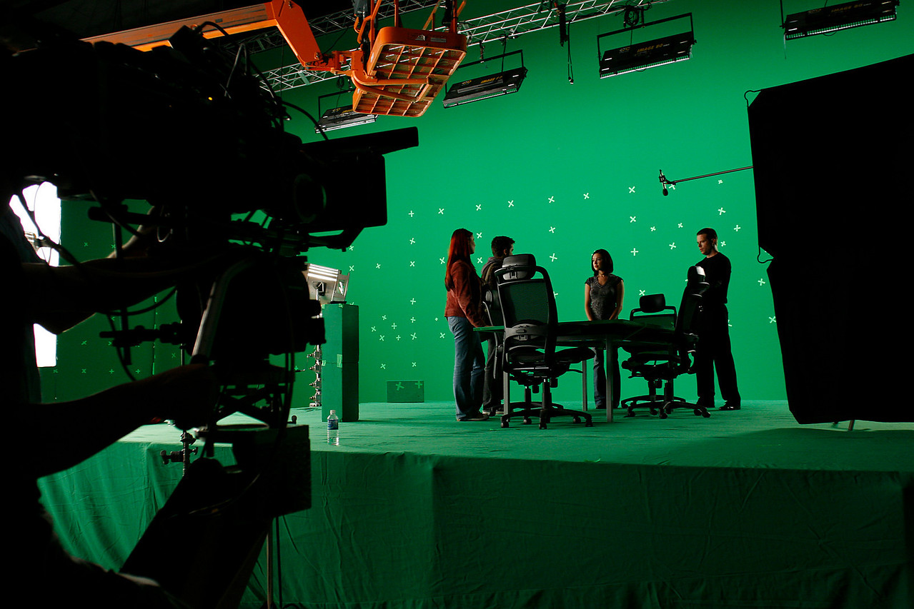 IQ -145 green screen on soundstage at Screen Gems Studio.