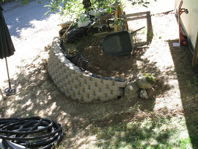 Retaining Wall and Drain Project
