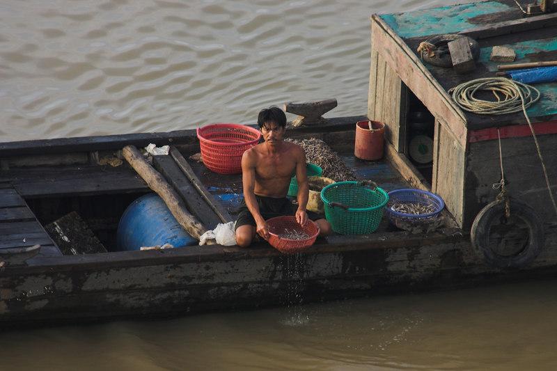 Fisherman<br /> Saigon River
