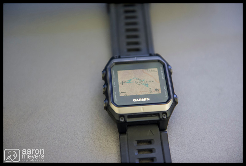 The Garmin Epix with 24K Topo Map displaying my hike