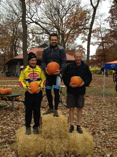 Hallow Cross Race - Sarnia October 27th, 2012<br /> Master 3 podium - Jean-Yves (1st), Ken (2nd) and Jacques (3rd) - this time with a better smile!
